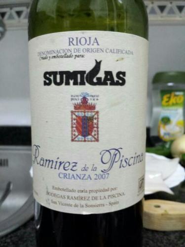 Ramirez de la piscina rioja crianza sumigas 2009 wine info - Ramirez de la piscina ...