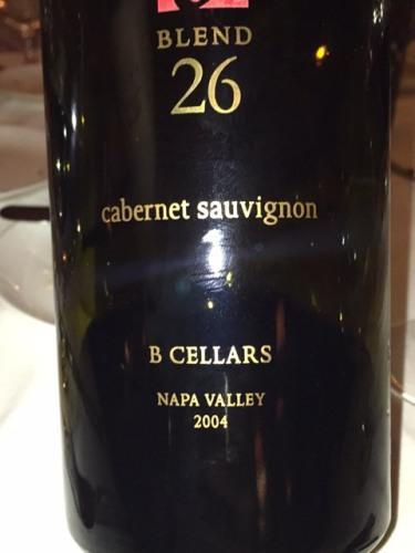 B Cellars Blend 26 Cabernet Sauvignon 2004  Wine Info