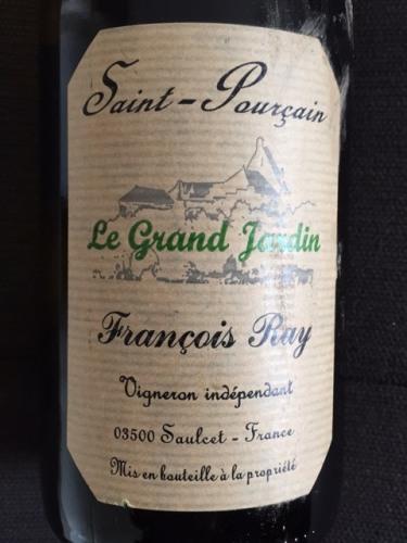 Ray le grand jardin saint pourcain wine info for Grand jardin wine
