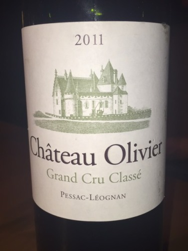 Ch teau olivier pessac l ognan grand cru class blanc 2011 for Chateau olivier
