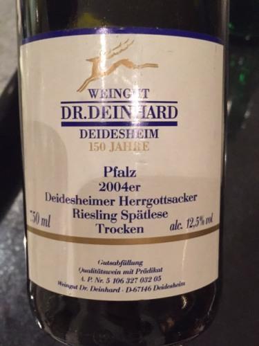 Dr deinhard riesling sp tlese trocken pfalz deidesheim for Deinhard wine