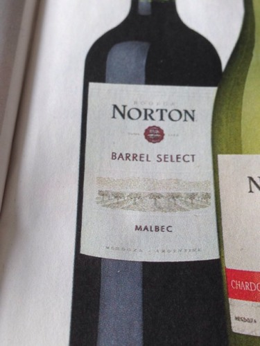 Norton Barrel Select Malbec 2011