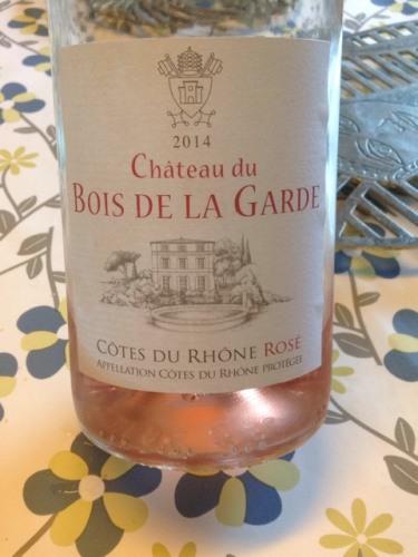 MoussetBarrot Château du Bois de la Garde Rosé 2014  ~ Atelier Du Bois De Rose
