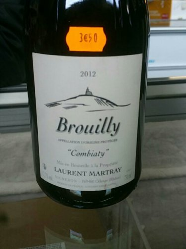 laurent martray combiaty vieilles vignes brouilly 2012 wine info. Black Bedroom Furniture Sets. Home Design Ideas