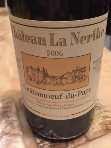 Ch teau la nerthe ch teauneuf du pape blanc 2006 wine info for Chateau la nerthe