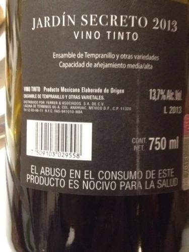 La salud tempranillo jardin secreto tinto 2015 wine info for Jardin secret wine