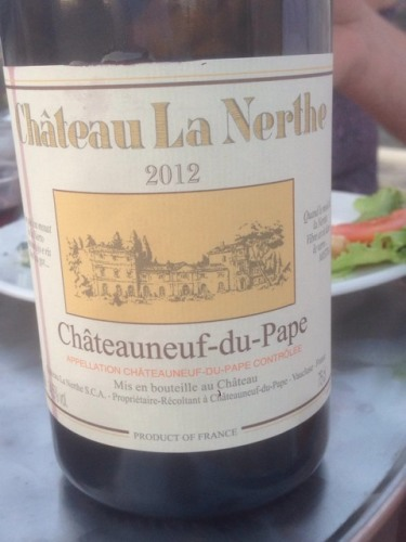 Ch teau la nerthe ch teauneuf du pape blanc 2012 wine info for Chateau la nerthe