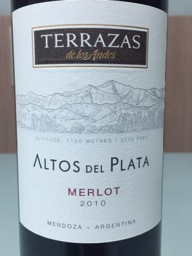 Terrazas De Los Andes Altos Del Plata Merlot 2010