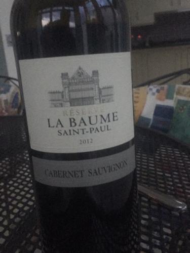 Domaine de la baume cabernet sauvignon r serve saint paul - Domaine de la baume ...