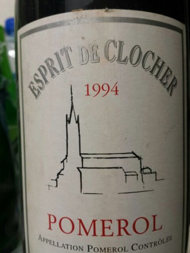 clos du clocher esprit de clocher pomerol 1994 wine info. Black Bedroom Furniture Sets. Home Design Ideas