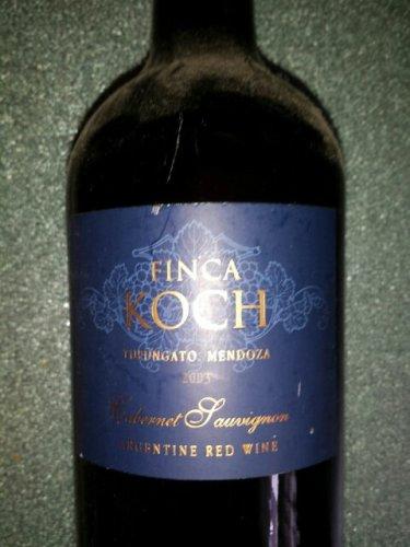 Finca koch tupungato mendoza cabernet sauvignon wine info for Koch 3 winde