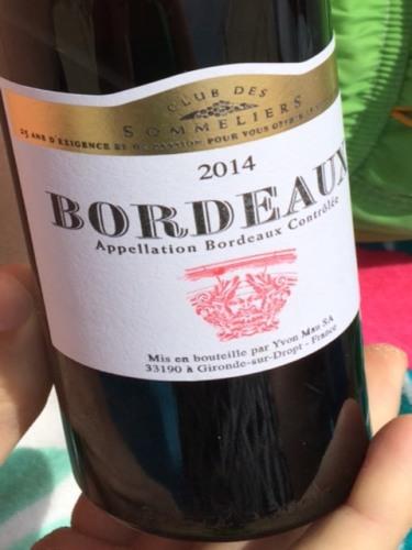 Club des sommeliers bordeaux 2014 wine info for Discotheque a bordeaux