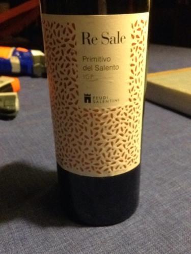 Feudi salentini re sale primitivo del salento 2013 wine info for Salento style re