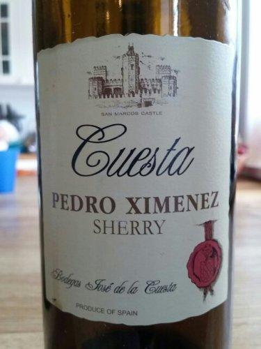 Jose de la cuesta pedro ximenez sherry wine info - Vino de pedro ximenez para cocinar ...