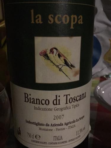 La scopa bianco di toscana wine info for La scopa di saggina