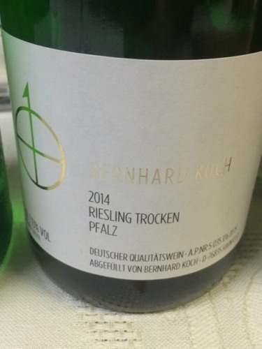 Bernhard koch riesling trocken 2014 wine info for Koch 3 winde
