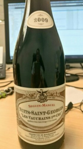 Seguin manuel nuits saint georges les vaucrains 1er cru for Champagne seguin