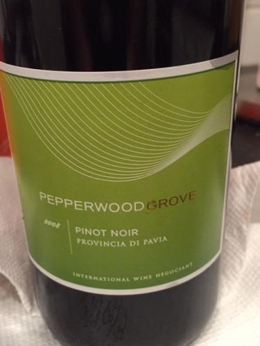 Pepperwood Grove Pinot Noir 2008 Wine Info