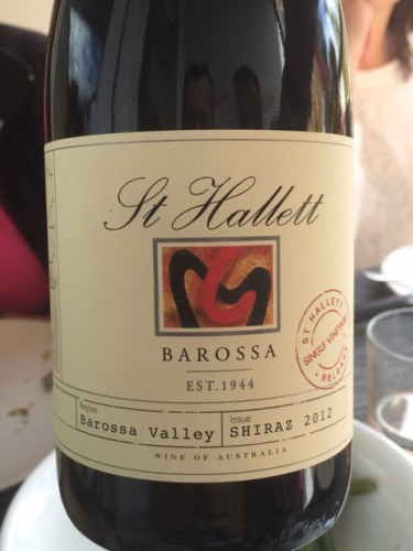 St hallett single vineyard shiraz 2013