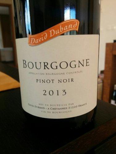 Domaine David Duband Bourgogne Pinot Noir, Burgundy ...