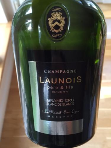 Launois p re fils le mesnil sur oger reserve blanc de blancs champagne grand cru 2012 wine info for Salon blanc de blancs le mesnil sur oger