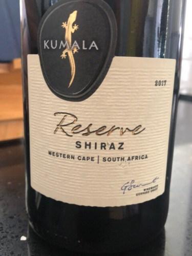 2017 Kumala Reserve Shiraz   Vivino