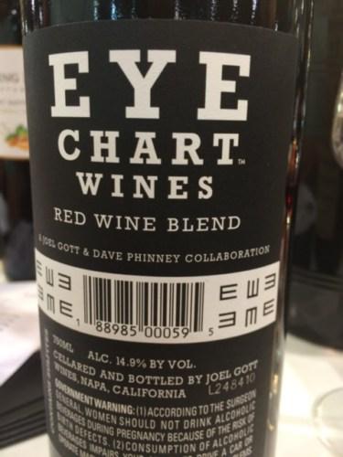 Joel Gott Eye Chart Red 2014 Wine Info
