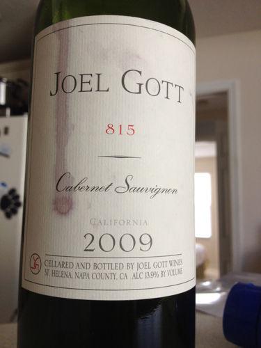 Joel Gott 815 Cabernet Sauvignon 2007 Wine Info