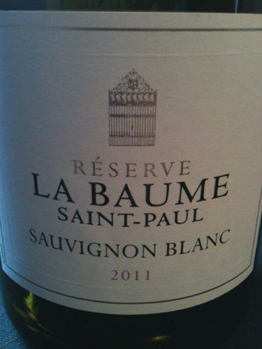domaine de la baume sauvignon blanc r serve saint paul nv. Black Bedroom Furniture Sets. Home Design Ideas