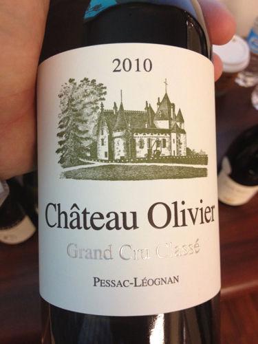 Ch teau olivier pessac l ognan grand cru class 2010 for Chateau olivier