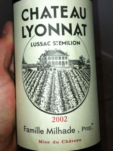 Ch teau lyonnat emotion lussac st milion 2002 wine info for Chateau lyonnat