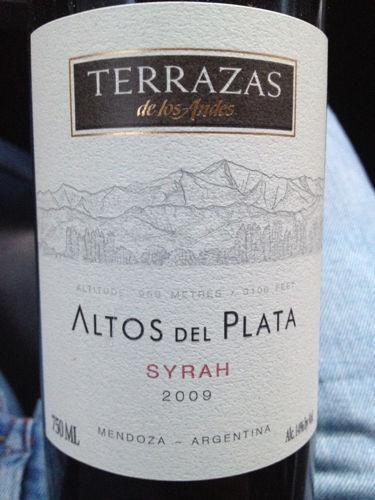 Terrazas De Los Andes Altos Del Plata Syrah 2009