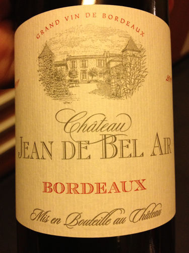 ch teau jean de bel air bordeaux 2011 wine info. Black Bedroom Furniture Sets. Home Design Ideas