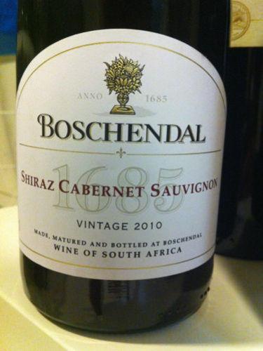 Boschendal shiraz cabernet sauvignon 1685 wine info for Boschendal wine