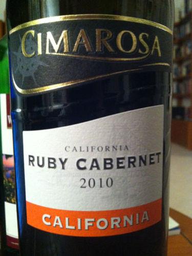 Cimarosa Ruby Cabernet 2010 Wine Info