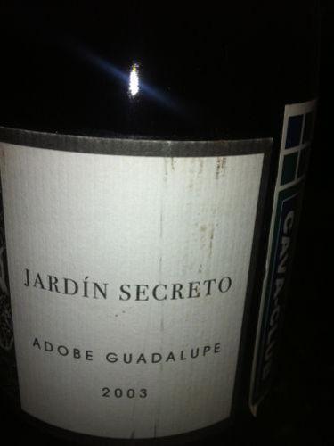 Adobe guadalupe jardin secreto 2003 wine info for Jardin secret wine