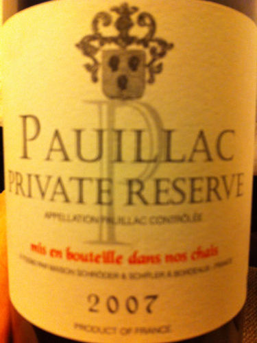 Chateau Kirwan Private Reserve Pauillac 2009 Wine Info