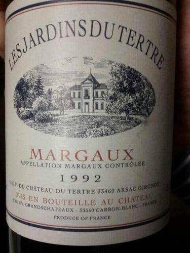 Ch teau du tertre les jardins du tertre margaux 2014 for Jardin du nil wine price