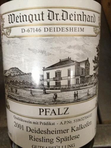 Dr deinhard deidesheimer kalkofen riesling sp tlese 2010 for Deinhard wine