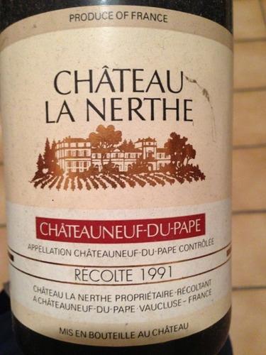 Ch teau la nerthe ch teauneuf du pape 1991 wine info for Chateau la nerthe