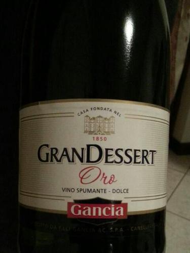 Gancia Gran Dessert Oro Spumante Dolce 2008 Wine Info