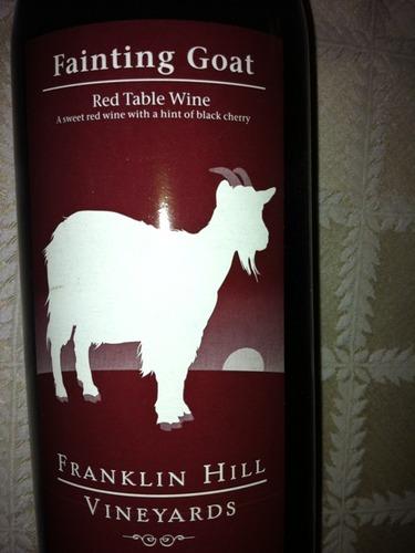 Franklin Hill Vineyards Fainting Goat