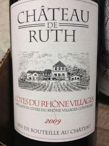 ch teau de ruth ch teau de ruth 2009 wine info