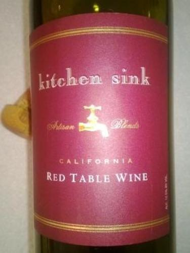 kitchen sink red table wine kitchen sink california artisan blends table wine 8531