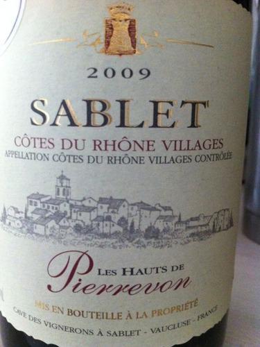 Sablet hauts de pierrevon c tes du rh ne villages 2009 wine info - Les hauts de toulvern ...