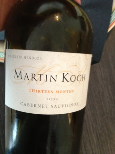 Martin koch thirteen months mendoza cabernet sauvignon for Koch 3 winde