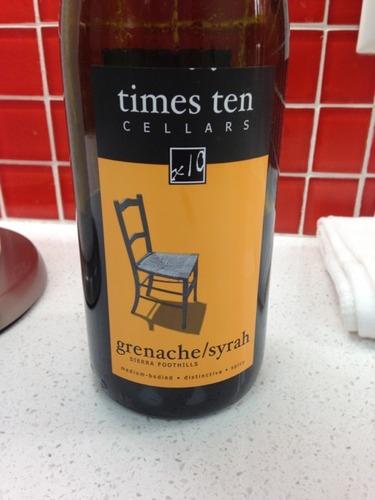 Times Ten Sierra Foothills Grenache Syrah 2012 Wine Info
