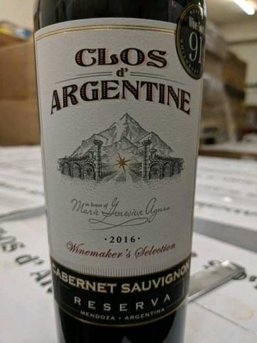 Clos Argentine Winemaker Selection Reserva Cabernet Sauvignon Wine Info