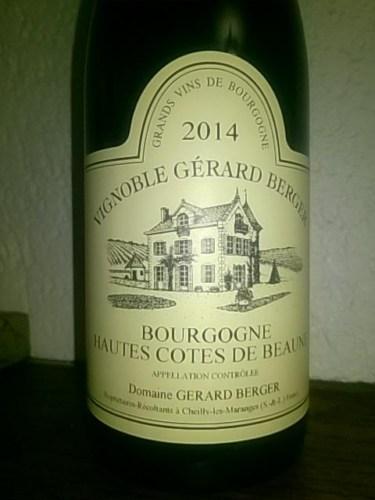 Gerard berger bourgogne hautes cotes de beaune 2011 wine for Haute cote de beaune