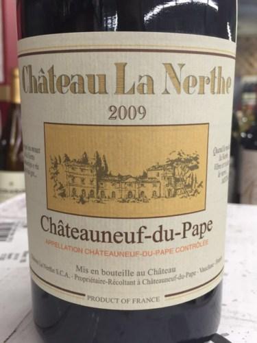 Ch teau la nerthe ch teauneuf du pape 2009 wine info for Chateau la nerthe